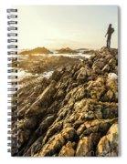 Backpacking A Tropical Sundown Spiral Notebook