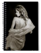 Backside In Black And White Spiral Notebook