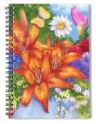 Backyard Bouquet Spiral Notebook