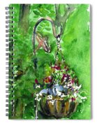 Backyard Hanging Plant Spiral Notebook