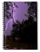 Backyard Lightning Spiral Notebook