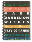 Backyard Rules Spiral Notebook