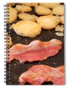 Bacon And Potatoes On A Griddle Spiral Notebook