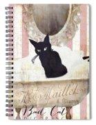 Bad Cat I Spiral Notebook