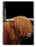 Bad Hair Day - Highland Cow - On Black Spiral Notebook