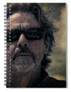 Badass Man In Sunglasses Stares Into The Unknown Spiral Notebook