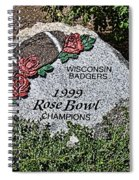 Badger Rose Bowl Win 1999 Spiral Notebook