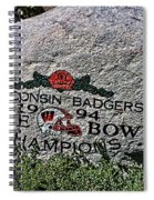 Badgers Rose Bowl Win 1994 Spiral Notebook