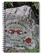 Badgers Rose Bowl Win 2000 Spiral Notebook