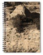 Badlands Sepia Spiral Notebook