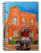 Bagg Street Synagogue Sabbath Spiral Notebook
