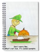 Baggs And Boo Canned Pumpkin Spiral Notebook