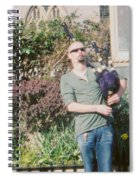 Bagpiper In Glastonbury Spiral Notebook