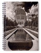 Bahai Temple Reflecting Pool Spiral Notebook