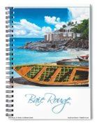 Baie Rouge Poster Spiral Notebook