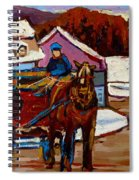 Baie Saint Paul Quebec Country Scene Spiral Notebook