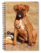 Bailey The Boxer Puppy Spiral Notebook