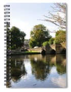 Bakewell Bridge And The River Wye Spiral Notebook