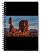 Balanced Rock Sunset Spiral Notebook