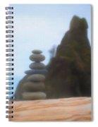 Balanced Stones At La Push Spiral Notebook
