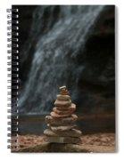 Balanced Stones Waterfall Spiral Notebook