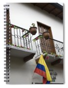 Balconies And Flags Spiral Notebook