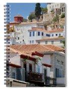 Balconies Of Hydra Spiral Notebook