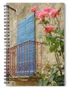 Balcony And Roses Spiral Notebook