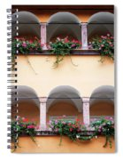 Balcony Flowers Spiral Notebook