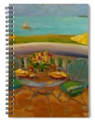 Balcony View On Milton Island Spiral Notebook