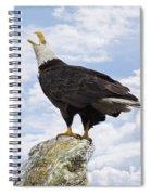 Bald Eagle Art - Speak Your Voice Spiral Notebook