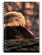 Bald Eagle Electrified Spiral Notebook