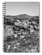 Bald Mountain Rock Formation In Black And White Spiral Notebook