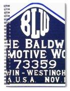 Baldwin Diesel Builders Plate Spiral Notebook