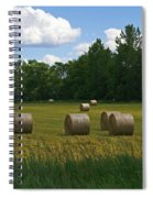 Bales In The Field Spiral Notebook