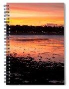 Bali Fisherman Sunset Spiral Notebook