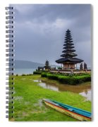 Bali Lake Temple Spiral Notebook