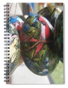 Bali Wooden Eggs Artwork Spiral Notebook