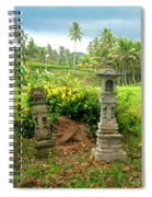 Balinese Rice Field Shrines Spiral Notebook