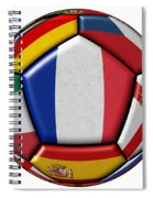 Ball With Flag Of France In The Center Spiral Notebook