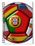 Ball With Flag Of Portugal In The Center Spiral Notebook