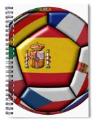Ball With Flag Of Spain In The Center Spiral Notebook
