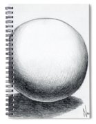 Ball With Shadow Spiral Notebook