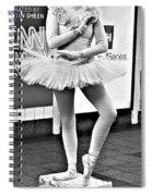Ballerina B W Spiral Notebook