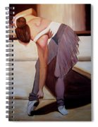 Ballerina Bending Over Spiral Notebook