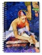 Ballerina Preparing For Performance Spiral Notebook
