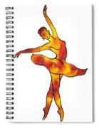 Ballerina Silhouette Dancing Fire Spiral Notebook