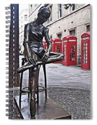 Ballerina Statue And Telephone Boxes Spiral Notebook