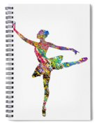Ballet Dancer-colorful Spiral Notebook