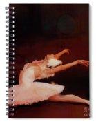 Ballet Dancer In White  Spiral Notebook